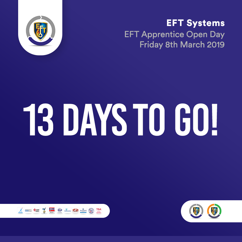 EFT Systems | Only 13 days to go!