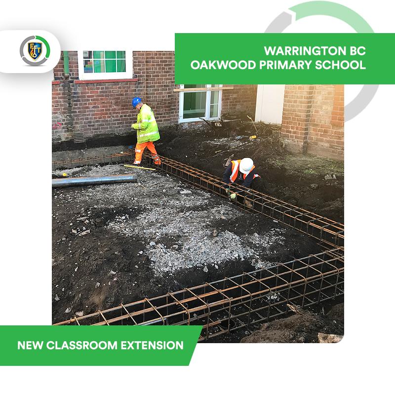 EFT Construction | Oakwood Primary School – New Classroom Extension