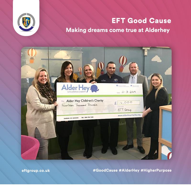 EFT Good Cause | Making dreams come true at Alderhey