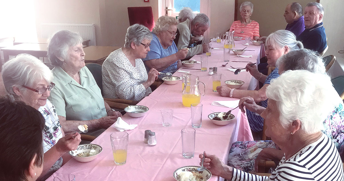 Residents Treated to Delicious Homemade Shepard's Pie and Sticky Toffee Pudding for June Soup Social!