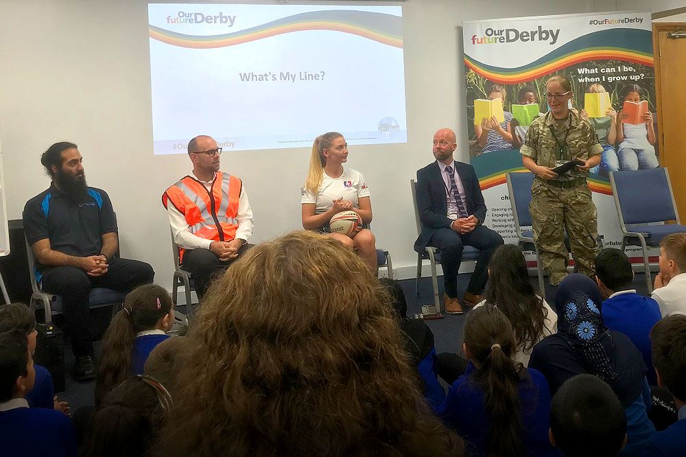 """EFT Director Jordan Duggan Spent The Day Attending The Launch of """"Our Future Derby"""" Programme To Help Raise Children's Career Horizons"""