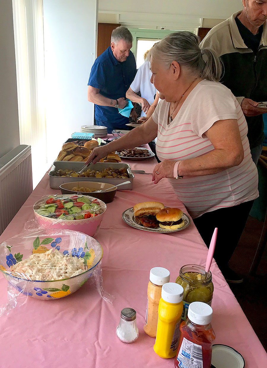 Monthly Soup Social For Wirral Methodist Housing Saw Residents Enjoying Another Indoor BBQ! #EFTGoodCause