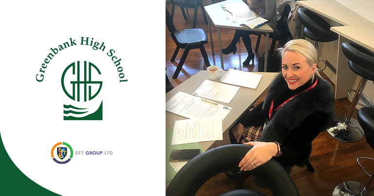EFT HR Manager Kyla & Director Jordan Spent The Day At Greenbank High School Giving Year 10 and 11's Insight To The Interview Process