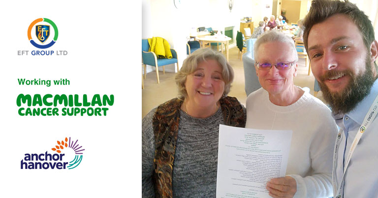 EFT Group Supporting Atherton Court's Coffee Morning To Help Raise Money For Macmillan Cancer