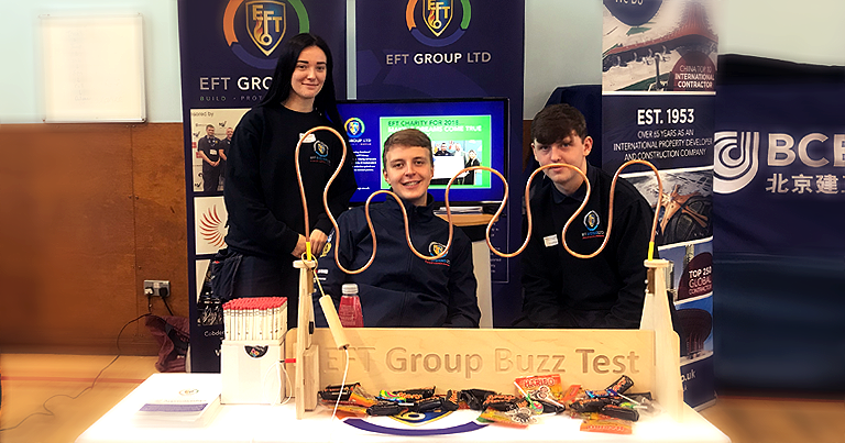 EFT Apprentices James And Erin Inspiring The Next Generation At Maricourt High School Careers Fair!