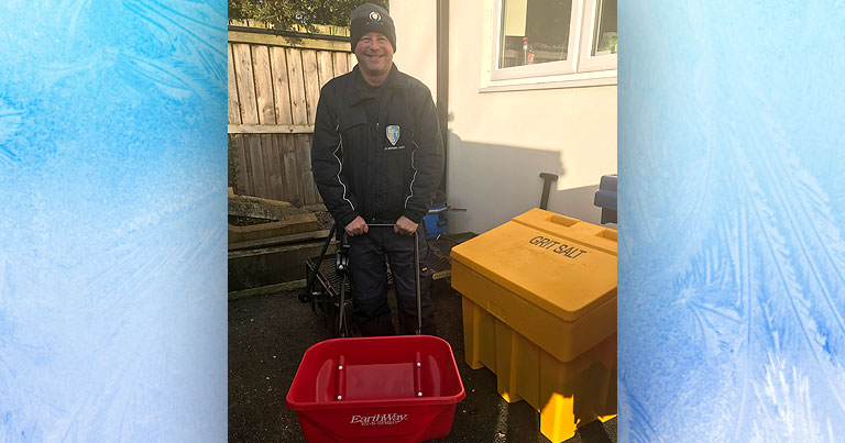 Stewart From EFT Keeping Staff Safe From Ice This Winter With New Salt Spreader And Bin