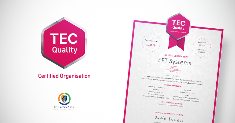 EFT Are Delighted To Announce That We Have Been Audited By 'TEC Quality' On Behalf Of The TEC Services Association (TSA)