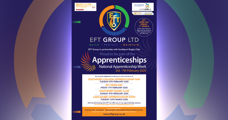 Not Long Until EFT Apprentice Open Day On Friday 7th Feb! Apply Now – Places Going Fast!