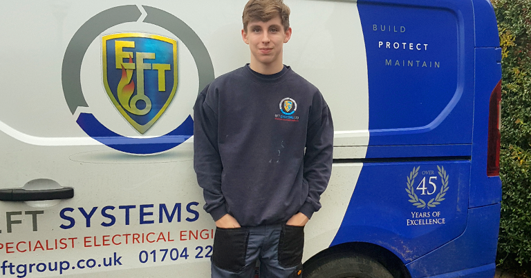 Will Completed Work Experience With EFT In December To Help Develop His Fire & Security Skills