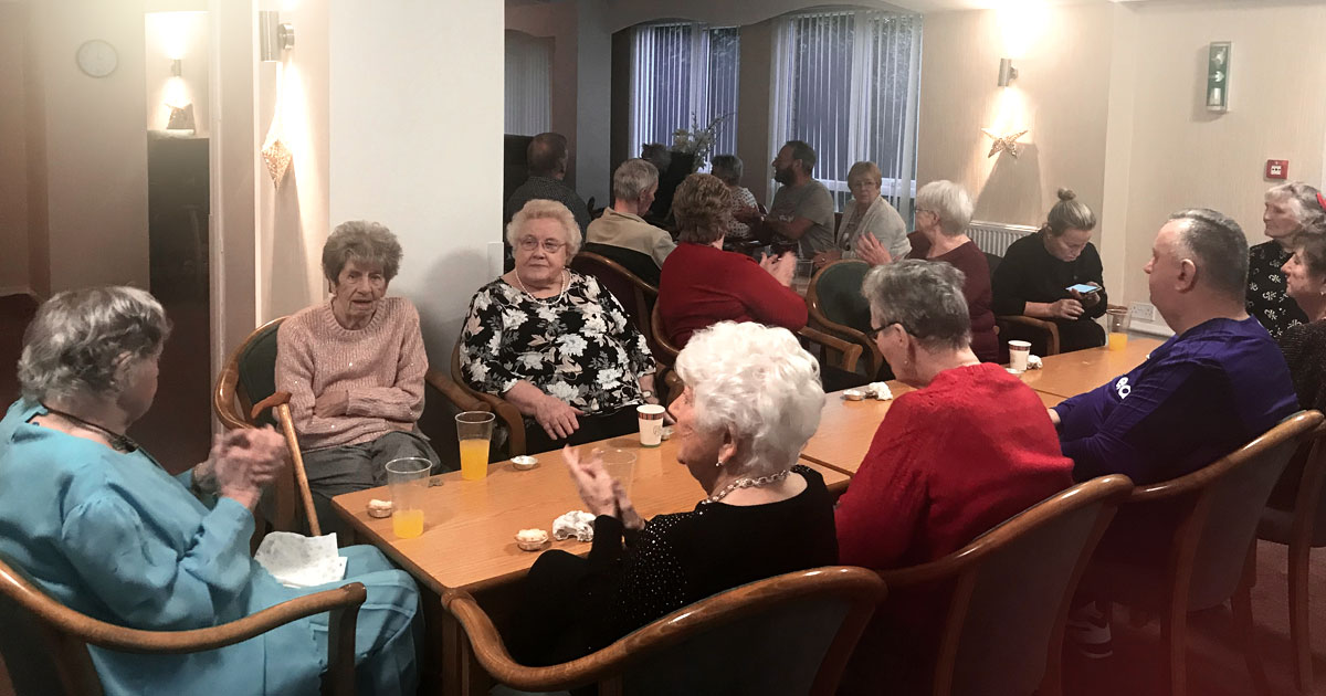 Residents Got Festive Treat At The Wirral Methodist Housing Christmas Party To End Another Great Year!