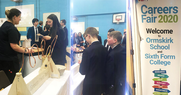 EFT Attended Ormskirk School Careers Fair 2020 To Promote Apprenticeships To Students