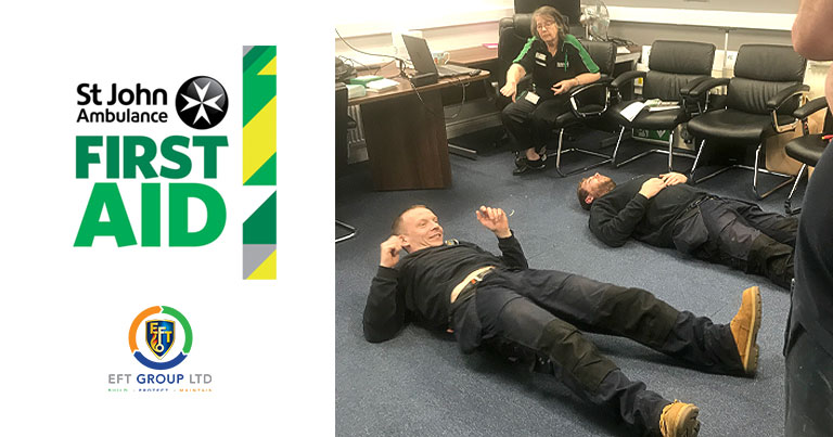 Engineers At EFT Took Part In First Aid Training Course With St John's Ambulance