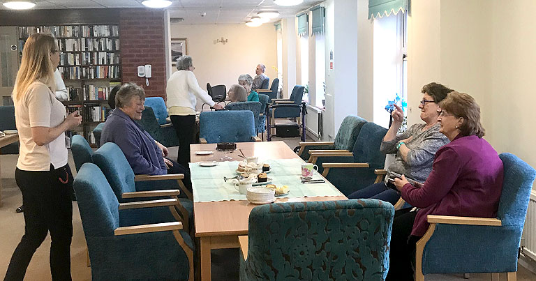 EFT Director Jordan & Project Manager David Hosted Ryelands Court Coffee Morning Last Week