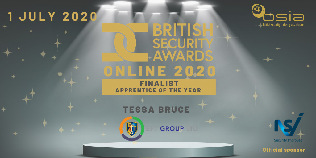 BSIA's Apprentice of the Year – EFT's Tessa is in the final three.