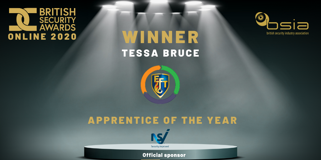 Tessa wins BSIA's Apprentice of the Year!